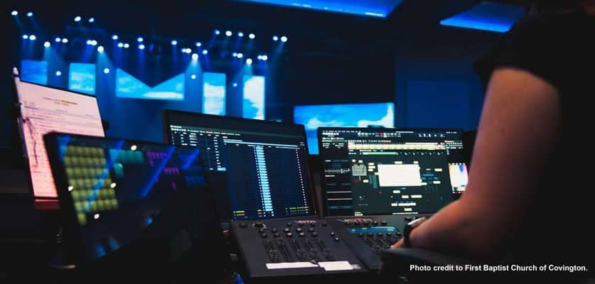 First Baptist Church Covington Equips New Worship SystemWith Chroma-Q Lighting