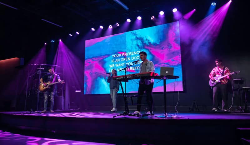 Digital Projection Radiance LED Display At Heart Of Youth Ministry Upgrade At Georgia Church